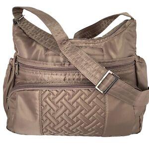 Lug Gallop Medium Cross Body Shoulder Bag Travel Sports - Taupe