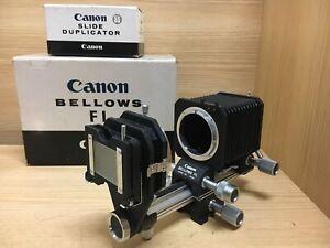 Unused in Box Canon Bellows FL & Slide Duplicator for FD FL Lens From Japan