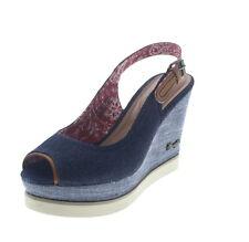 37 Sandali e scarpe plateau, zeppe blu per il mare da donna