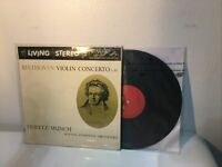 BEETHOVEN: Violin Concerto HEIFETZ, MUNCH RCA Shaded Dog LM-1992 LP VG+++