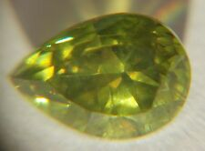 Demantoid Garnet from Russia, 1.86 ct, Pear , Yellow-Green, VS 1 , Natural!!