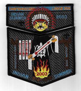 OA Chattahoochee Lodge 204 2003 Indian Summer Flap Set BLK Bdr. GA [MX-8117]
