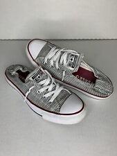 Converse Chuck Taylor Shoreline Slip On Shoes 562034F Black White Striped Size 9