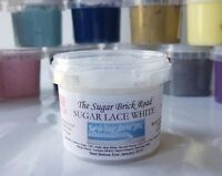 WHITE Cake Lace, Ready Mixed 120g, Edible Sugar Lace, EXTRA FLEXIBLE