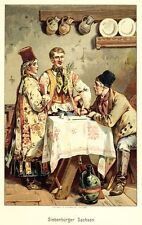 Siebenbürgen, Transsilvanien,Trachten, Rumänien, Chromolithographie von ca. 1890