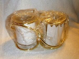 Partylite GEMINI Twin Unity Frosted Glass Candle Holders-NEW in box-free ship