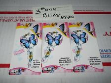 New listing 3 Bling Butterfly House Key Blanks Lot Of 3 Locksmith Deal Kw1 Kw10