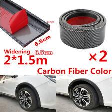 2X Car Fender Flares Extension Wheel Eyebrow Protector Lip Carbon Fiber Color