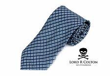 Lord R Colton Basics Tie - Black Blue & Gray Woven Necktie - $49 Retail New