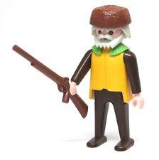 Playmobil Figure Western Trapper John w/ Beaver Hat Rifle 3394
