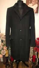 Hugo Boss The Sintrax Luxe Wool & Cashmere Mens Over Coat Charcoal Black 44 Reg