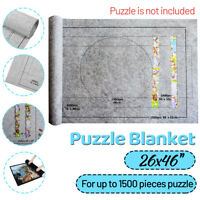 Large Up to 1500 Pieces Felt Jigsaw Puzzle Mat Roll Up Pad Easy Storage Fu