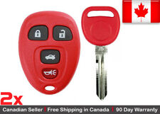 2x Red New Replacement Keyless Entry Remote Control Key Fob For Chevy Buick GMC
