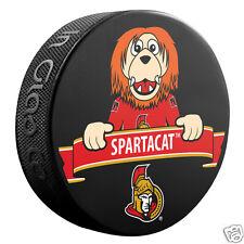 2016 Ottawa Senators MASCOT SPARTACAT Souvenir Hockey Puck - NHL Team Logo