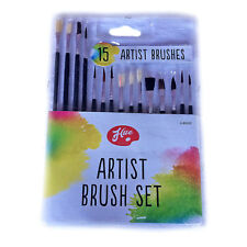 Artist Brushes - 15 Piece Set - Various Sizes, Painting, Crafts