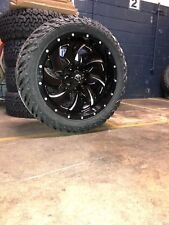 "22x10 D574 Fuel Cleaver Wheel and Tire Package 33"" Fuel MT 5x5 Jeep Wrangler JL"
