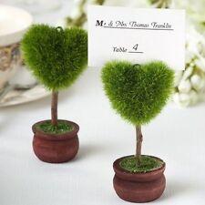 4 x Beau Design Cœur Topiary Lieu Porte-cartes Table Sièges Nom Marriage
