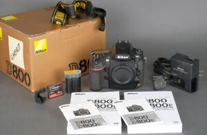 Nikon D800 Body 36MP + 16GB Card + Warranty -  35K Actuations Mint- !