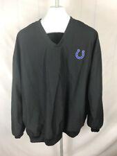 Indianapolis Colts Windbreaker Pullover Men's Xl X-Large Black Nfl Football (U)