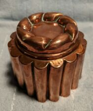 Antiques Cylinder Shaped Copper Jelly Mould
