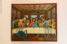 Jesus Christ Lord's Supper The Last Supper Laminated Icon 10x12cm Тайная Вечеря