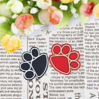 dog paw iron on patch for cloth hot melt adhesive applique embroidery patch FT