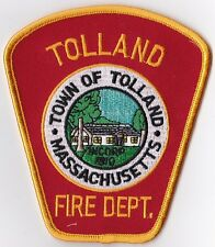 Tolland Fire Dept. MA Firefighter Patch  NEW!!