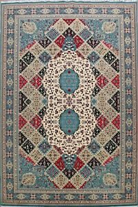 Geometric Floral Turkish Tebriz Oriental Area Rug For Living Room Carpet 10x17