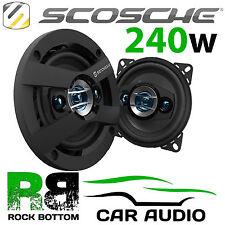 """Scosche Audio 4004 10 cm 4"""" inch 240 watt 4 Way Coaxial Car & Van Door Speakers"""