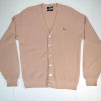 Deadstock vtg 60/70s Crown Sportswear Turtle Logo Cardigan Sweater Sz S/M