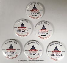 Say Yes to the Wall campaign button set of 6 (WALL-702)