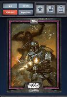 Star Wars Card Trader PURPLE CTI 2019 Chewbacca & Boba Fett 125cc
