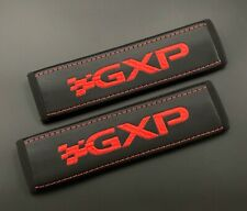 Pontiac GXP soft Black seat belt covers pads with red embroidery 2pcs