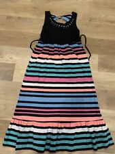 Justice Girls Dress size 8 long maxi. Black with multi colors and sequins