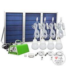 Foldable Solar Panel Charger Lighting Kit Home DC System USB LED Light Bulb