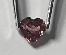 Rhodolith- Granat:2x Facettiert 5x5mm Herz-transparent rot- violett ca. o,35 ct