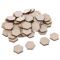 54pcs Holzscheiben Hexagon Form Naturholz Baumscheibe Verzierung Scheiben für