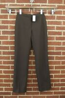 NEW Brooks Brothers Womens Pants Sz 6 Brown Wool Dress Slacks NWT Trousers
