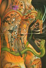 "1993 Vintage David Mann ""Delirium: A Flesh Fabrication"" 16 x 20 Matted Biker Art"