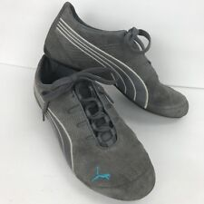 Puma V2 Comfort Gray Womens Walking Hiking Exercise Shoes 9 Suede Lace Up 492091c10