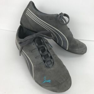 Puma V2 Comfort Gray Womens Walking Hiking Exercise Shoes 7.5 Suede Lace Up
