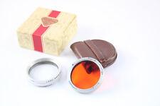 2x Rollei ri ROLLEIFLEX Rollei 1 FILTRO arancione + Rolleinar 0,75
