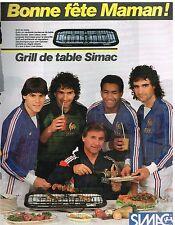 Publicité Advertising 1984 Grill de table Simac avec Equipe de France Football