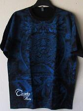 """Cancun """"Mayan Calendar"""" T-Shirt Black & Blue XL New!"""