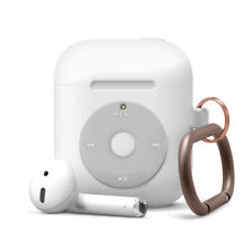 AirPods Case - elago® Classic iPod Music Player Case with Keychain [White]