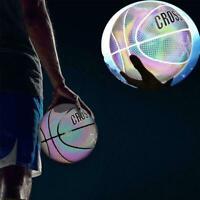 Sports Reflective No.7 Standard Basketball Luminous PU W/Inflatable Z1Q8