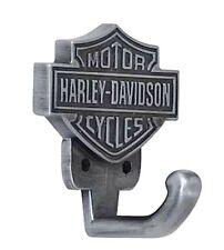 Harley-Davidson® Bar & Shield Antique Pewter Hardware Utility Hook HDL-10100