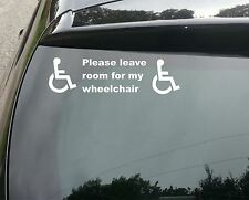 Disabled sign Disability Mobility Car Taxi Minibus STICKER/ VINYL DECAL