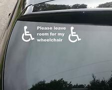 Disabilitato segno Disabilità Mobilità Auto Taxi Minibus Adesivo decalcomania in vinile/