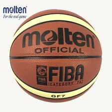 Quality Fiba Size 7 New Molten GF7 Leather Basketball Ball Training Equipment